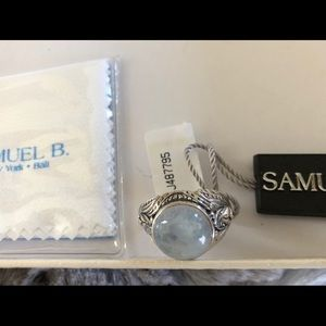 NWT Samuel B. Moonstone and Sterling silver ring